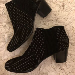 Brand new Aerin black studded booties